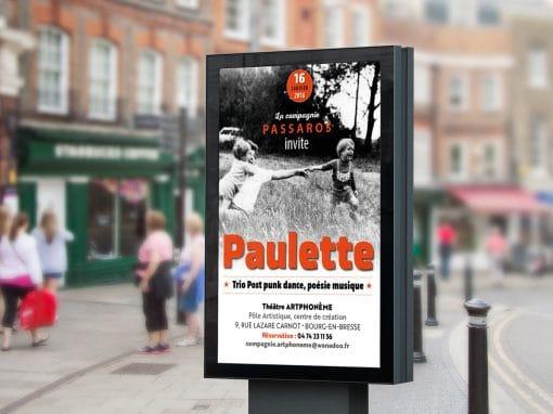 Flyer & affiche Paulette